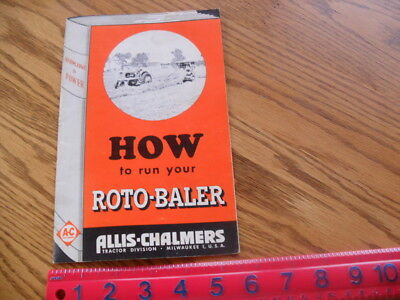 allis-chalmers how to run your roto-baler manual