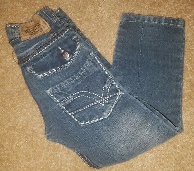 EUC Boys CHAMS factory distressed jeans  Size 4