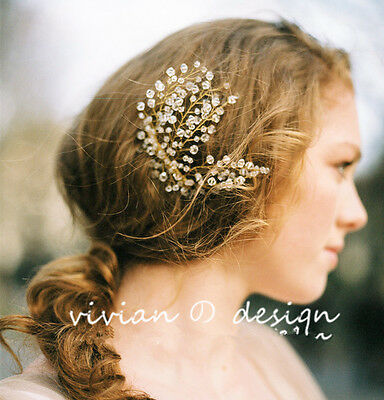 Crystal Headdress Party Pageant Crown Bridal Headband Wedding Hair Accessory
