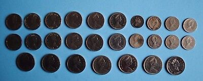 Lot of 27 CANADIAN NICKELS, DIMES, QUARTERS 1906 1924 1933 1950 1952... Coins