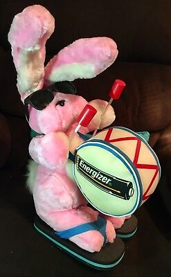 """Vintage Energizer Bunny Plush Drummer - New - 19"""" Tall"""