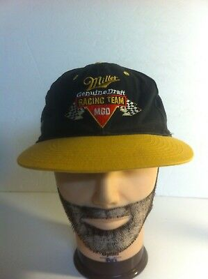 Miller Genuine Draft Racing Team MGD Adjustable Baseball Hat Cap Snapback f2b9e71c6467