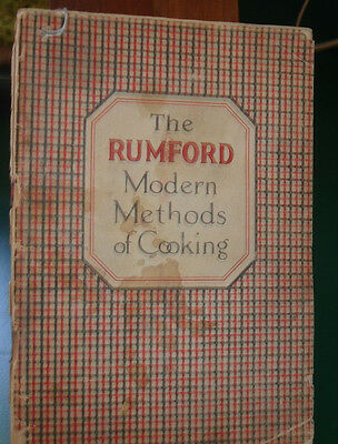 Vintage 20's? Rumford Modern Methods of Cooking  Rumford Baking Powder