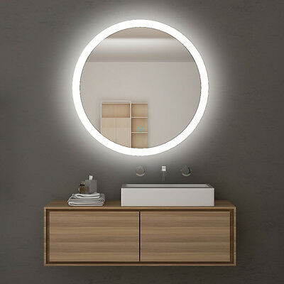 580mm Round Bathroom LED Illuminated Mirror Touch Switch Wall mounted
