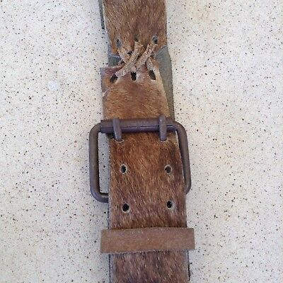 Vintage Raw Hide Leather Belt