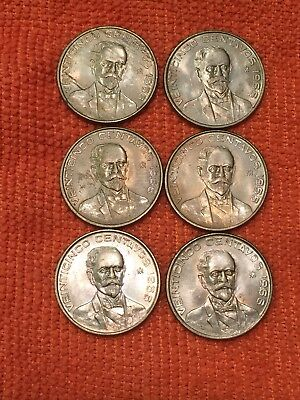 Mexico Set 6 Coins 25 Cents Cooper/nickel 1966 Uncirculated