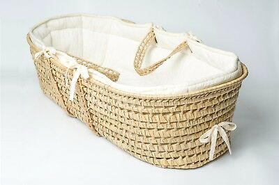 Tadpoles Baby, Moses Wicker Basket, with Pad and Sheet. Baby Shower.