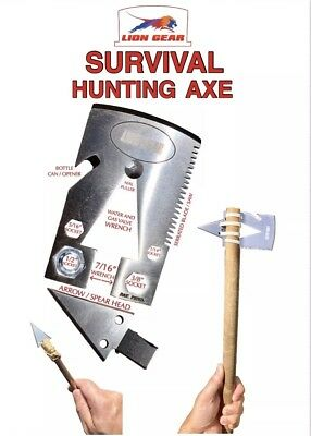 EDC SURVIVAL CARD AXE / TOMAHAWK Hunting Fishing Credit Card Size Multi-Tool