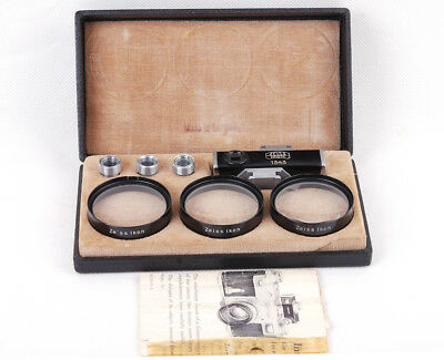 Ex+ ZEISS IKON Contameter Set Viewfinder + Filter 1343 for Contax II/III w/Box