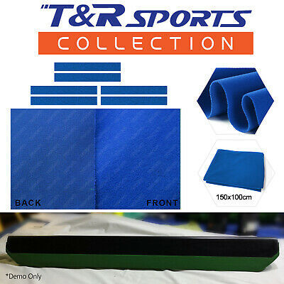 "6x Single Side Blue Cloth Strips for Pool Snooker Table Cushion 7""/8"" Free Post"
