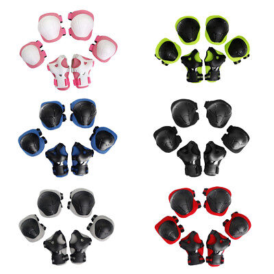 6 Pcs Kids Children Youth Roller Skating Scooter Knee Wrist Elbow Pad