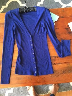 Country Road Blue Wool Cardigan Size XS
