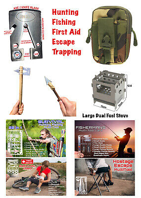 .EDC Survival Multi Tool Combo Kit With Green   Camo Belt Pouch FREE DELIVERY