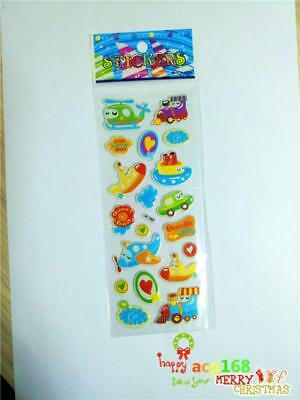 Airplane Xmas Stick 1pc Puffy Boy Cartoon Stickers Lot Craft Kid Party Toy Gifts