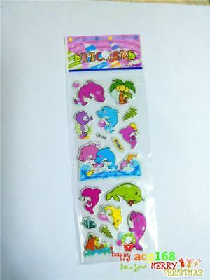 Alive Xmas Stick 1pc Puffy Cartoon Stickers 3D PVC Lot Craft Kid Party Toy Gifts