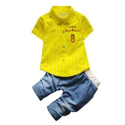 2017 children summer Set Toddler baby boys clothing sets gentleman clothes suits