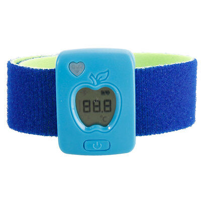 Intelligent Wearable Safety Thermometer Bluetooth Baby Smart Thermometer Blue