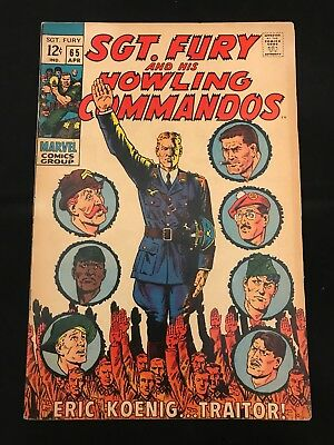 Sgt. Fury And His Howling Commandos #65 Fn- Marvel Comics Silver Age Nick Fury!