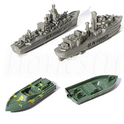 1pc Plastic Military Ship Model Cruiser Rubber Boat Kids  Toy Children Gift New