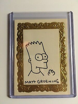 The Simpsons Art DeBart 1993 Skybox Sketch Card /400 + bonus cards