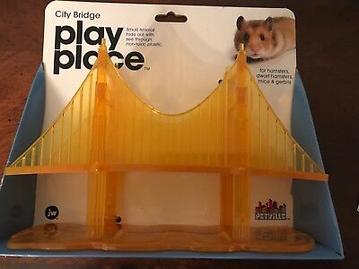New Petville City Bridge Play Place Small Animals Hamster Gerbil Mice Mouse