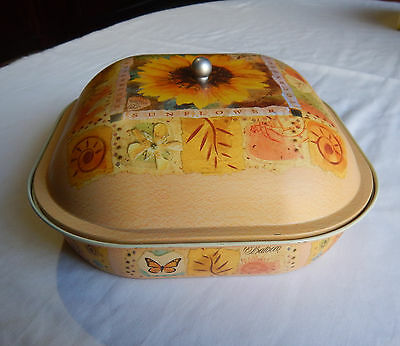 Empty Balocco Italy Sunflower Cake Tin Container 650Gm