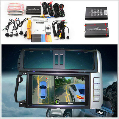 Car 3D 360 Surround View System Overlooking Panorama System 4-CH Camera DVR Kit
