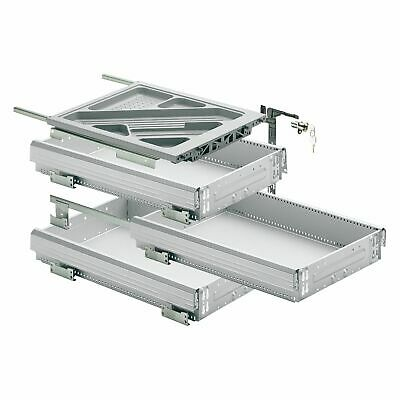 HETTICH SYSTEMA TOP 2000 Container-Set Silent System, Teilauszug, ET 730 mm, alu