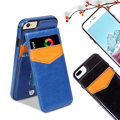 Leather Wallet Case Card Holder Cover for Apple iPhone 8 7 8 Plus 7 Plus 5s X