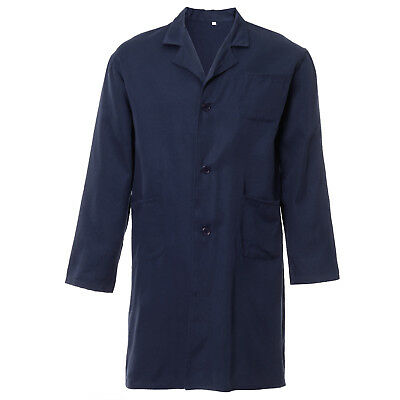 Blue Lab Coat Laboratory Hygiene Food Industry warehouse Doctors Medical Coat
