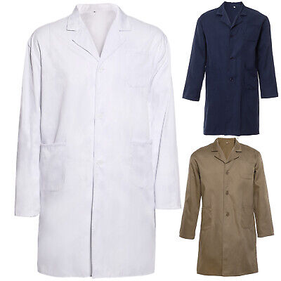 Lab Coat Laboratory Coat Warehouse Coat Doctor's Coat White Blue Khaki