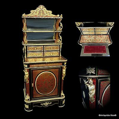 French Luxury Cabinet in Boulle marquetry 19th century Period Napoleon III