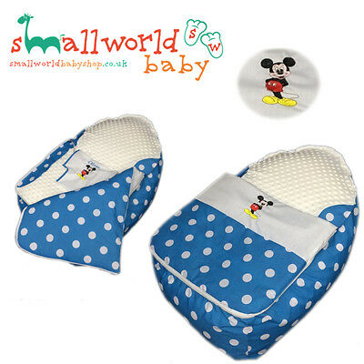 Personalised Mickey Mouse Baby Bean Bag Sleep Pod (NEXT DAY DISPATCH)
