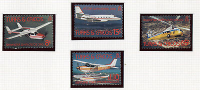 Turks and Caicos 1982 airplanes and helicopters complete set MNH **