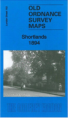 Old Ordnance Survey Map Shortlands Beckenham Bromley 1894