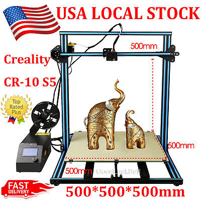 3D Printer Creality CR-10 S5 500*500*500mm 0.2kg PLA Filament Update Dual Z-axis