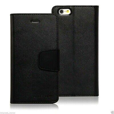 iPhone 6 6s 6 Plus 6s Plus Genuine MERCURY Goospery Black Flip Case Wallet Cover