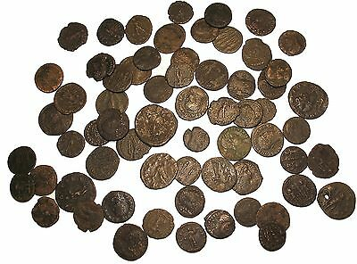 Ancient Roman hoard coin 3rd 4th century Imperial unattributed nice details vg
