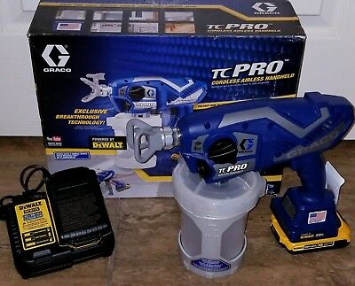 New Graco TC Pro Cordless Airless Paint Sprayer Kit w/ 2 Batts & Charger 17N166
