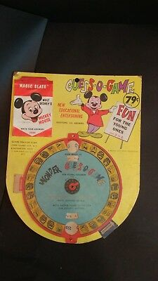 RARE 1961 Mickey Mouse Guess O Game Store Display