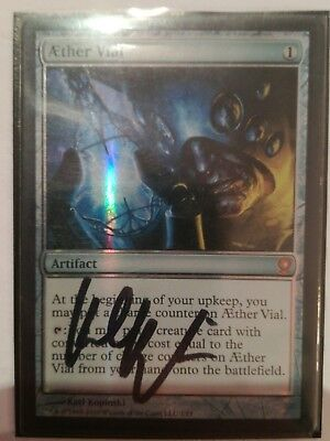 Aether Vial signed by Artist Foil. Ätherpiole Magic Gathering 2o2