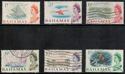 Lot 3313 - Bahamas – 1965 selection of 6 used QE II definitive stamps