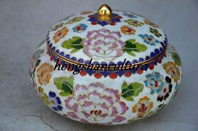 OLD COLLECTIBLE DECORATION CHINESE CLOISONNE HANDWORK STORAGE TANK Zw