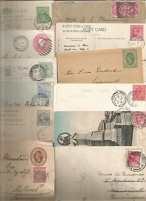 Cape  Of Good Hope, South Africa , 11 X Covers , Cards , Qv And Edward Vii Perio
