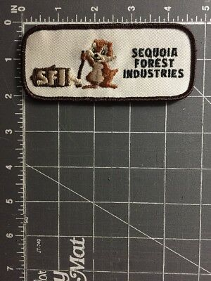 Vintage Sequoia Forest Industries SFI Patch Products Lumber Mill Dinuba Logging
