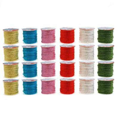 10M Colorful Burlap Rope Natural Jute Twine Cord Rope Wedding Gift Packing