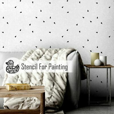 TRIANGLE CLUSTER Nursery Modern Furniture Wall Floor Stencil for Paint