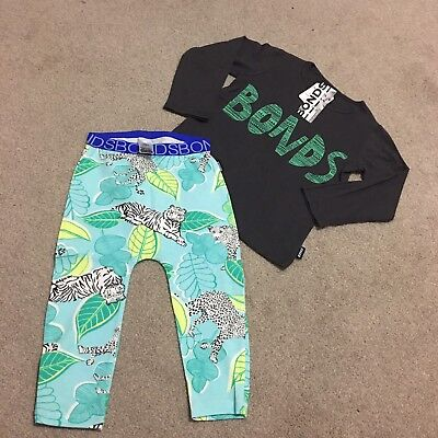 New 2014 Bonds Top Tee And Tiger Eye Spy Leggings Size 1 Baby Boys Girls