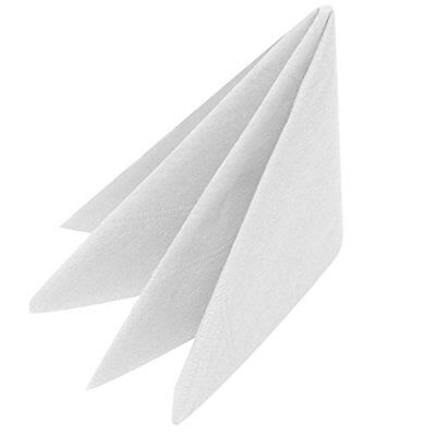 Swantex White Napkins 40 cm 3PLY – Custodia di 1000 | usa e getta (L3y)