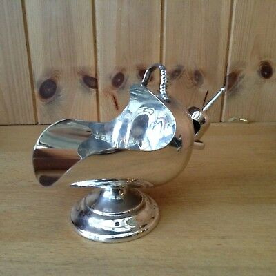 Vintage Silver Plated Sugar Scuttle